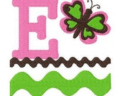 INSTANT DOWNLOAD Butterfly Baby Machine Embroidery Monogram Font Set
