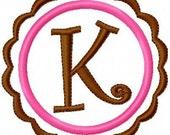 Scallop Circle  Machine Embroidery Monogram Embroidery Design Set// Machine Embroidery Designs, Embroidery Font // Joyful Stitches