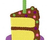 Birthday Cake Slice Machine Embroidery Design // Joyful Stitches