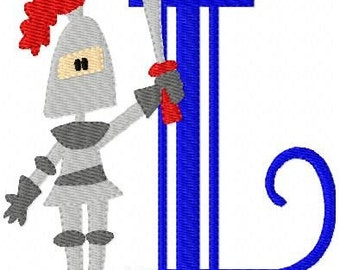 Knight Monogram Font Machine Embroidery Design Set // Joyful Stitches