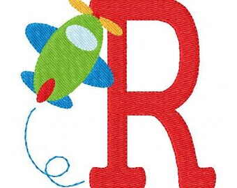 Plane, Airplane, Airshow, Embroidery Monogram Embroidery Design Set, Embroidery font, Embroidery Monogram Font // Joyful Stitches