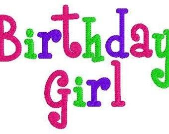 Birthday // Birthday Girl // Machine Embroidery Design // Joyful Stitches