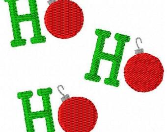 Ho Ho Ho Christmas Machine Embroidery Design // Joyful Stitches