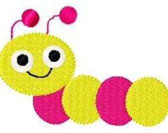 Inch Worm Machine Embroidery Design // Joyful Stitches