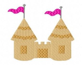 Sand Castle Machine Embroidery Design, Beach Machine Embroidery Design, Machine Embroidery Design, Sand Castle // Joyful Stitches