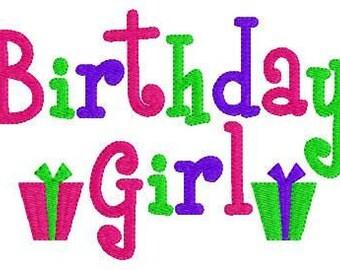 Birthday Girl Gifts Machine Embroidery Design // Joyful Stitches