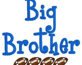Big Brother Football Machine Embroidery Design // Joyful Stitches