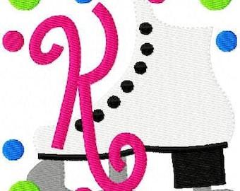 Figure Skating Ice Skating Machine Embroidery Monogram Design Set // Joyful Stitches