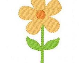 Daisy Bloom Machine Embroidery Design // Joyful Stitches
