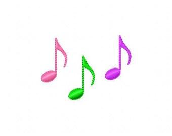 Music Notes Machine Embroidery Design // Joyful Stitches