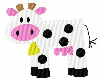 INSTANT DOWNLOAD Dairy Cow Single Embroidery Design