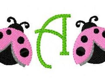 Ladybug Mini Monogram Machine Embroidery  Design Set  Joyful Stitches // Joyful Stitches