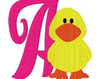 Baby Duck Machine Embroidery Monogram Design Set // Joyful Stitches
