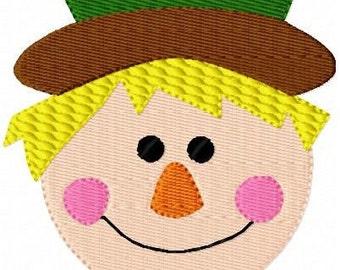 Scarecrow Machine Embroidery Design Single // Joyful Stitches