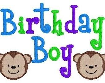 Birthday Boy Monkey Machine 5x7 Embroidery Design // Joyful Stitches
