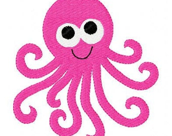 INSTANT DOWNLOAD Octopus Machine Embroidery Design