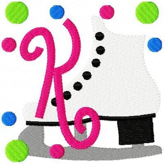 Figure Skating // Ice Skating // Machine Embroidery Monogram Design Set, Machine Embroidery Designs, Embroidery Font // Joyful Stitches