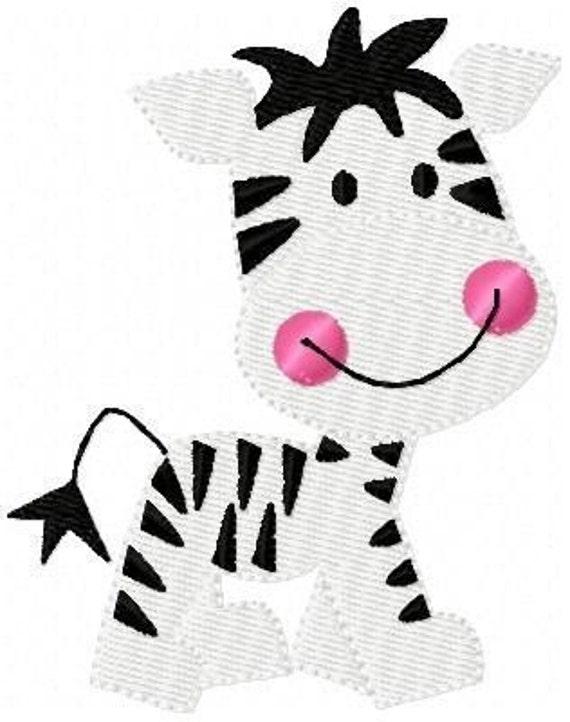 Zebra Baby Machine Embroidery Design // Joyful Stitches