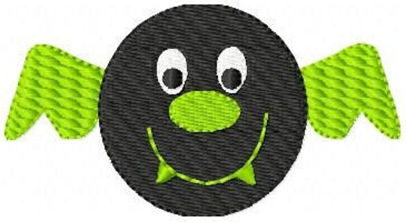 Batty Bat Machine Embroidery Design // Joyful Stitches