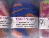 Felted Soaps. 100 percent Merino Wool