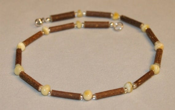 "Hazelwood &  Baltic Amber 18"" Necklace - Natural Healing for Adult - In stock and ready to ship from the USA"