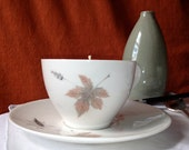Hand Poured Tea Cup Candle in Tumbling Leaves