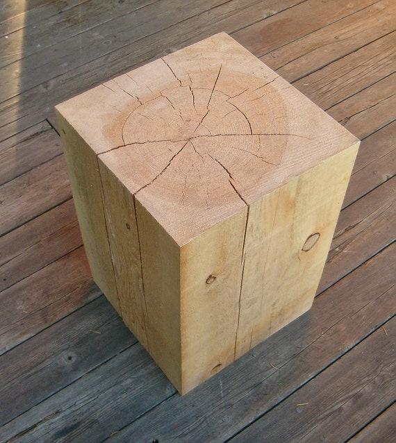 Hemlock block side tables custom listing reserved for