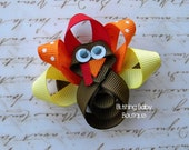 Turkey Hair Clip-- Perfect for Thanksgiving Dinner