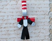 Cat in the Hat Hair Clip- Inspired By- Kitty- Dr. Seuss-