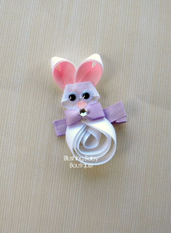 3 inch Easter Bunny Hair Clip- Perfect for Easter or Any Bunny Lover-