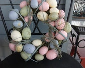 Easter -Spring Wreath with eggs