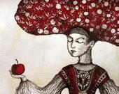 The Taste of Apple - original drawing