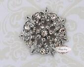 5pcs RD159 Rhinestone Crystal Metal Flatback Embellishment Button Brooches wedding bridal favor invitation crystal bouquet flower hair