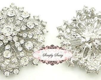 10pcs RD109 Rhinestone Metal Flatback Embellishment Brooch 4 wedding bridal accessories invitations pillow crystal bouquet flowers hair