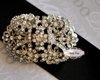 RD137 Rhinestone Embellishment Metal flatback Brooch DIY wedding jewelry accessories invitations pillow crystal bouquet flowers, hair