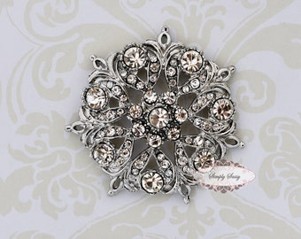 5pcs RD159 Rhinestone Crystal Metal Flatback Embellishment Button Brooches wedding bridal favor invitation crystal bouquet flower hair