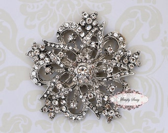 5pcs RD158 Rhinestone Crystal Metal FLATBACK Embellishment Button Brooches wedding bridal favor invitation crystal bouquet flower hair