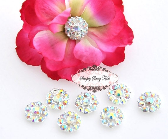 20 pcs RD100 Clear ClearAB 11mm Rhinestone Embellishment Flatback Button Lot  Add to flowers invitations frames accessories Wherever
