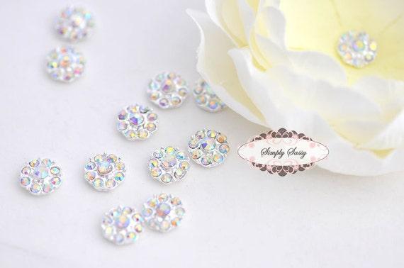 20 pcs RD100 Clear AB Rhinestone Embellishment Flatback Crystal  DIY invitations flowers weddings bouquet brooch bling