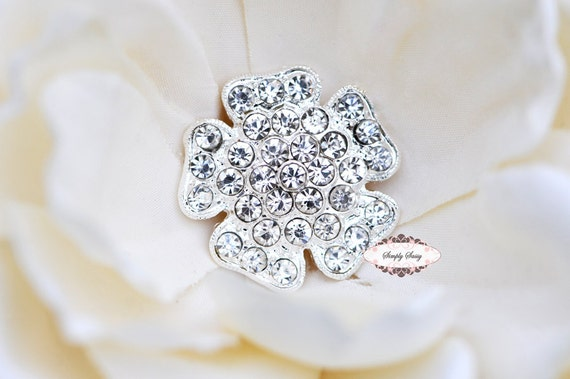 5pcs RD146s Clear Crystal Silver Rhinestone Metal FlatBack Embellishment Add to flowers favors invitations accessories hairclips wedding