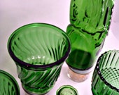 Vintage Depression Glass. Set of 5. Green With Envy Instant Collection.