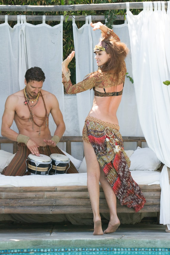 RESERVED FOR MELISA Gypsy Autumn Dreamcatcher Up Cycled Festival Belt Bustle