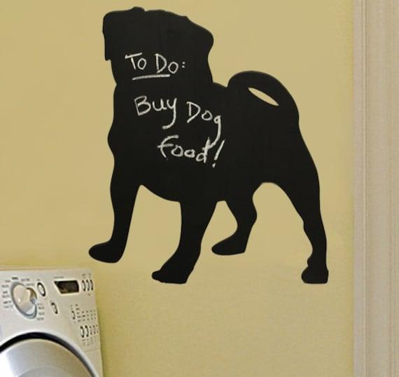 pug chalkboard for wall decor to do list kids u0026 39  room