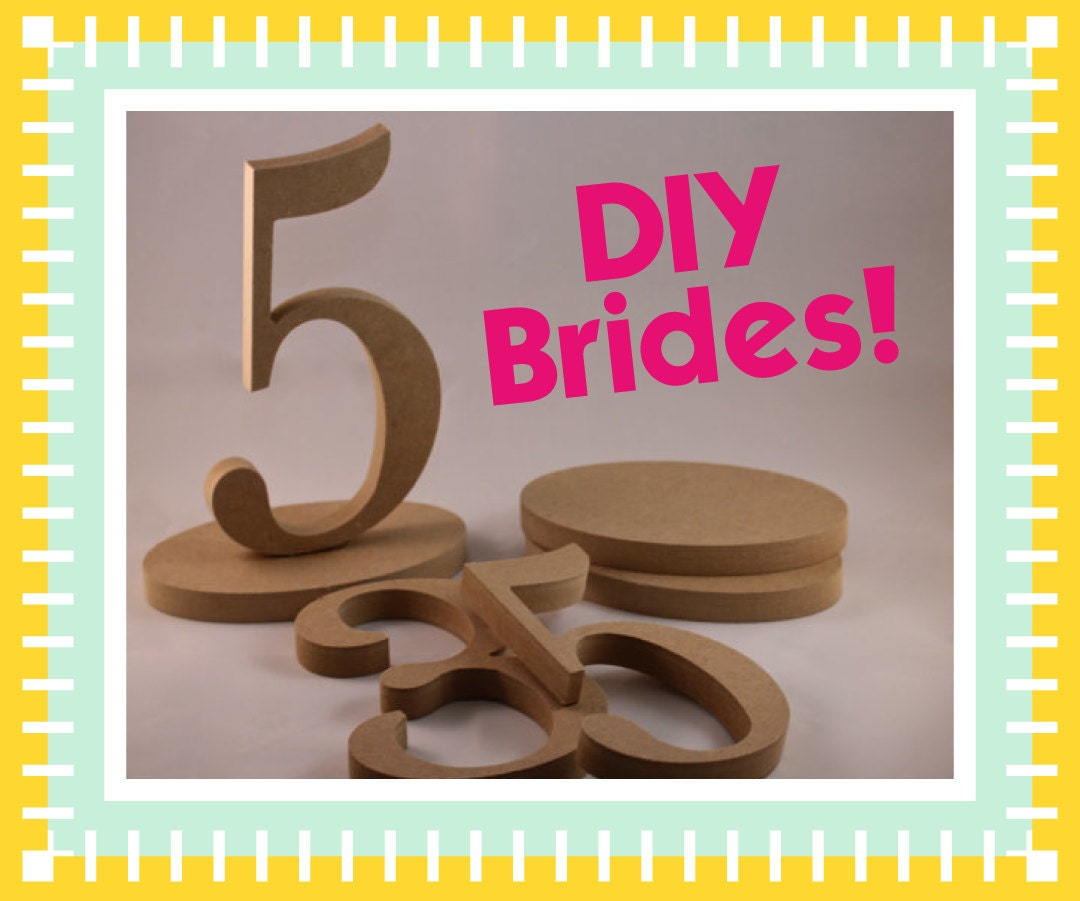 1 10 diy wooden wedding table numbers for weddings diy for Table numbers