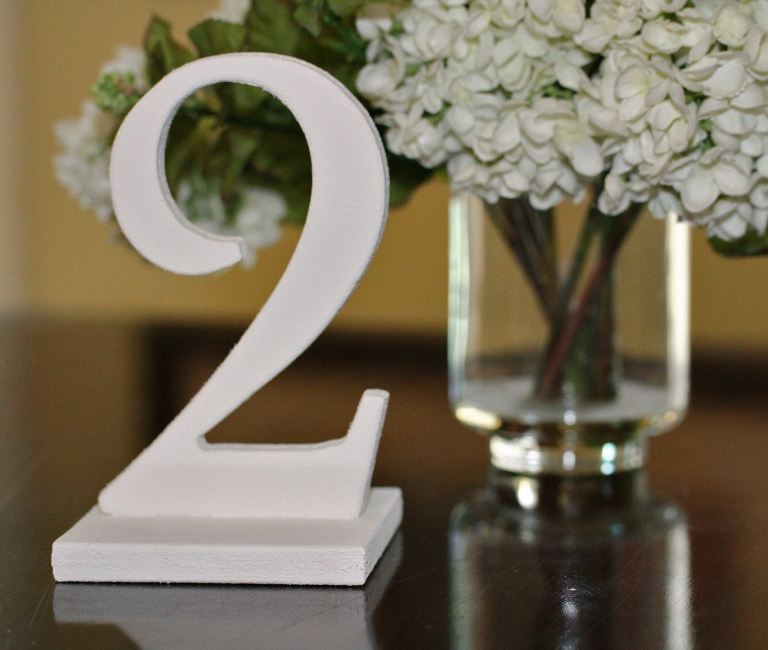 Antique white table numbers for wedding wooden freestanding for Table numbers