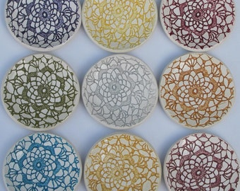 ceramic trinket/jewelry dish pick your color