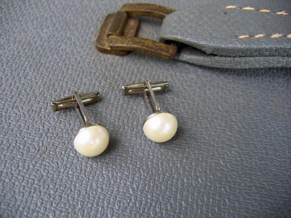 Vintage Pearl Cuff Links