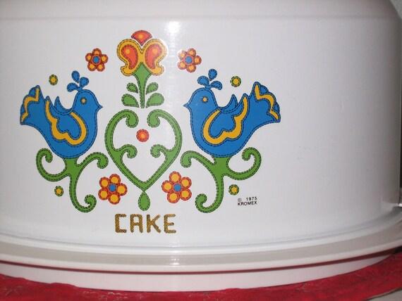 Vintage 1975 Friendship Kromex Cake Carrier Cover