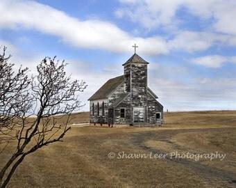 Wooden Church on the North Dakota Prairie