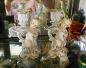 Porcelain Baby Candle Holders